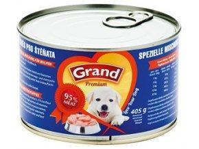 GRAND konzerva šteňa mäsová zmes 405g