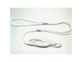 Vodítko DINOFASHION predvádzacie šnúra 130cm / 5mm biele
