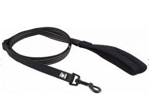 Vodítko Hurtta Stretch pružné čierne 180cm / 20mm