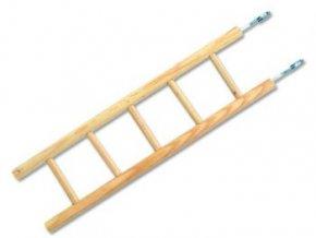 Rebrík BIRD JEWEL drevený 5 priečok 34x5cm