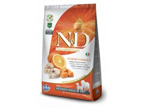 N&D GF Pumpkin DOG Adult M/L Codfish & Orange 2,5kg