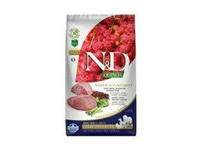 N&D GF Quinoa DOG Weight Mngmnt Lamb & Broccoli 2,5kg
