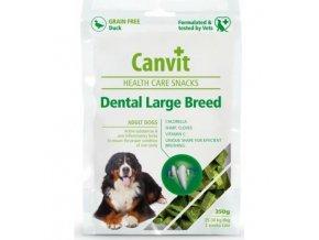 canvit snacks dental large breed duck 250g
