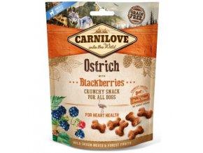 carnilove dog crunchy snack ostrichblackberries 200g