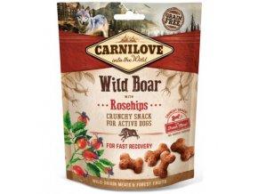 carnilove dog crunchy snack wild boarrosehips 200g