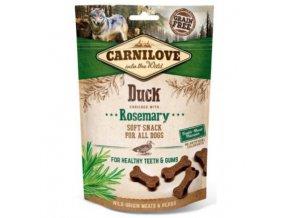 carnilove dog semi moist snack duckrosemary 200g