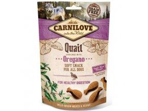 carnilove dog semi moist snack quailoregano 200g
