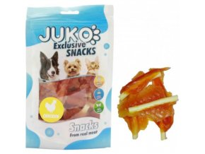 juko excl smarty snack soft mini chicken jerky 250g