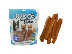 juko exclsmarty snack salmon strip with fishskin 250g