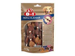 Pochúťka 8in1 Triple Flavour skewers (6ks)