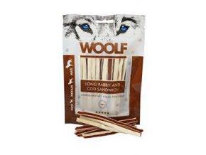 WOOLF soft Rabbit&Pollock sandwich LONG 100g