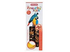 Crunchy Stick Parrot Buráky/Banán 2ks