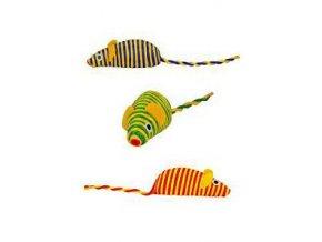 Hračka myš 7cm mix farieb