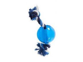 Hračka pes BUSTER Strong Ball 9 cm s povrazom
