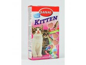 Sanal Kitten srdiečka losos + taurin 40tbl