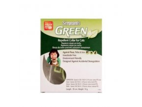 Sergeanťs Green obojok pre mačky 35cm