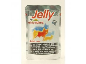 Almo Cat Jelly kapsa tuniak+sardinky 70g