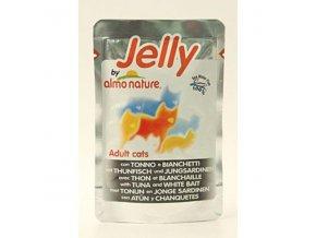 Almo Cat Jelly kapsa tuniak+sardinky 70g