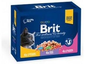 Brit Premium Cat kapsa FP Poultry&Fish 1200g (12x100g)