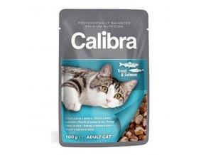 Calibra Cat kapsa pstruh a losos v omáčke 100g