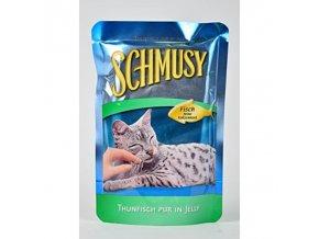 Schmusy Cat kapsa Fish tuniak+zelenina 100g
