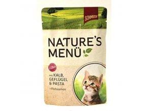 Schmusy Cat Nature Menu kapsa Junior teľacie+kura 100g