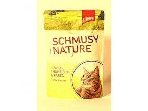 Schmusy Cat Nature Menu kapsa zverina+tuniak 100g