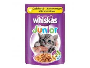 Whiskas kapsa Junior s kuracím mäsom 100g