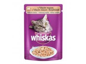 Whiskas kapsa s teľacím v krém. omáčke 100g