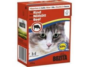 Bozita Cat kúsky v omáčke s hovädzím Tetrapak 370g