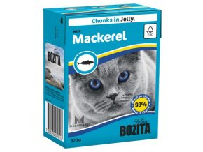 Bozita Cat kúsky v želé s makrelou Tetrapak 370g