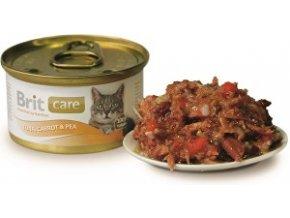 Brit Care Cat konz.tuniak,mrkva & hrášok 80g