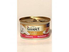 Gourmet Gold konz. jemná paštéka s hovädzím 85g