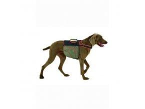 Batoh pre psov L zelená/oranž. reflexný KAR 1ks
