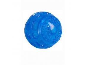 Hračka pes lopta 7,5cm TPR guma svietiaca
