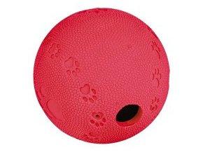 Hračka pes lopta s otvorom na krmivo 6cm TR