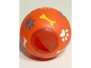 Hračka pes lopta s otvorom na krmivo Snacky 11cm TR 1ks