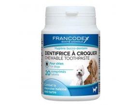 Francodex žuvacia zubná pasta v tabletách 20tbl