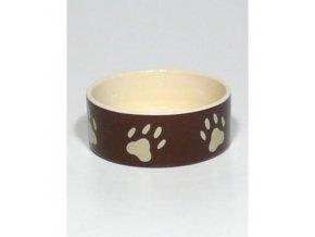 Miska keramická pes s bež.labkami 0,3l 12cm TR