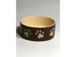 Miska keramická pes s bež.labkami 0,8l 16cm TR