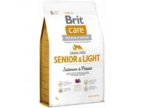 Brit Care Dog Grain-free Senior Salmon & Potato 3kg