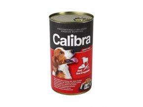 Calibra Dog konz. hovädzie+pečeň+zelenina v želé 1240g