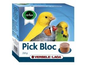 Pick Bloc - zobový kameň v miske pre vtáky - grit, koral a červený kameň 350g