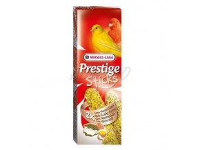 Prestige Sticks Canaries Eggs & Oystershells - 2 tyčinky s vajcom a drvenými lastúrami 60g