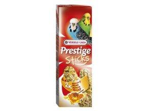 Prestige Sticks Budgies Eggs & Oystershells 2 pieces - 2 tyčinky s vajcom a drvenými lastúrami pre andulky 60g