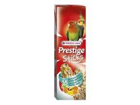 Prestige Sticks Big Parakeets Exotic fruit - 2 tyčinky pre stredné papagáje s ovocím 140g