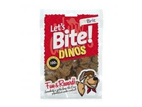 Brit pochúťka Let's Bite Dinos 150g