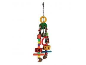 Hračka pre papagáje drevenná T2 33cm