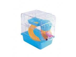 Klietka pre hlodavce Villa Boy modrá s vybavením