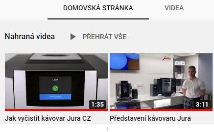 Video prezentace na youtube